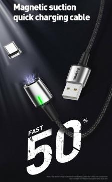 Cáp nam châm Baseus ZINC Magnetic 100cm